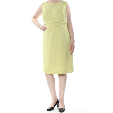 KASPER Womens Yellow Sleeveless Below The Knee Formal Dress Size 22W
