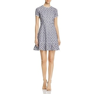 MICHAEL Michael Kors Womens Casual Dress Embroidered Eyelet