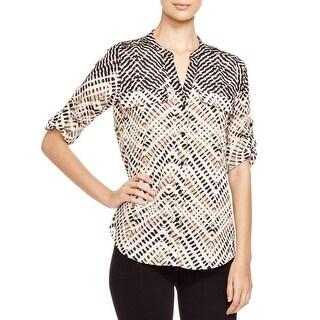 Calvin Klein Womens Blouse Printed Adjustable
