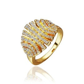 Gold Plated Open Cut Leaf Branch Ring
