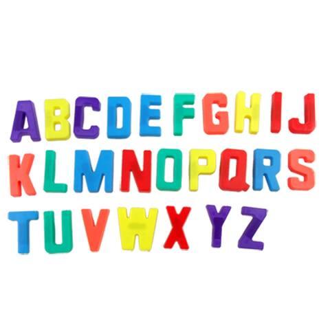 Unique Bargains 26 Pcs Colorful English Letter White Board Fridge Refrigerator Magnets