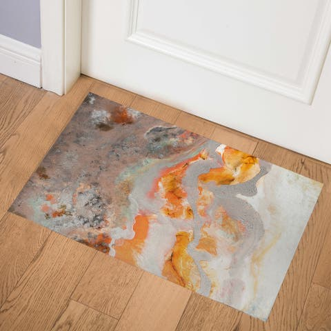 FIRE CORAL ART LARGE Indoor Floor Mat By Kavka Designs