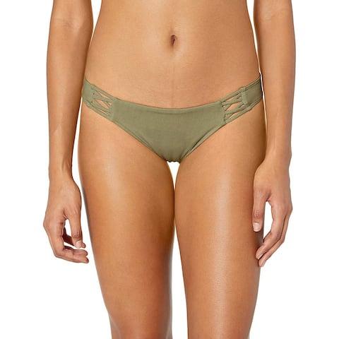 Billabong Women's Sol Searcher Tropic Bikini Bottom Sage Medium