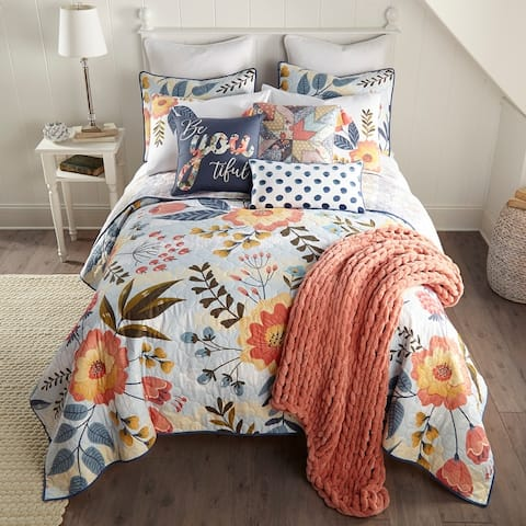 Coral Crush 3 Piece UCC Quilt Set by Donna Sharp