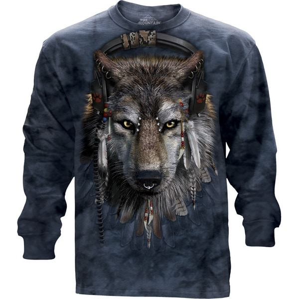 The Mountain Cotton Dj Fen Design Adult Long Sleeve T-Shirt