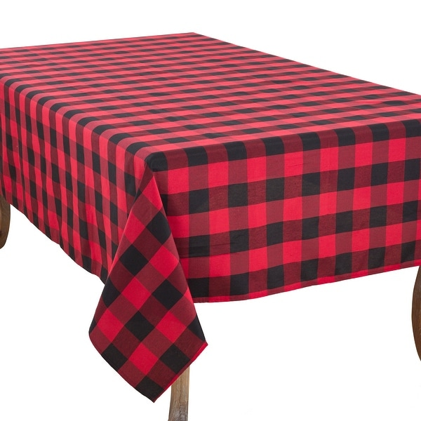 Casual Tablecloth With Buffalo Plaid Design. Opens flyout.