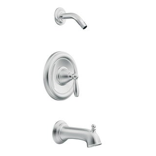 Moen T62153NH  Posi-Temp Pressure Balanced Tub and Shower Trim and Tub Spout from the Brantford Collection (Less Valve) - Chrome