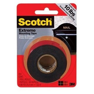"Scotch 414P Mounting Tape, 1"" x 60"""