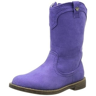Nina Girls Rena Cowboy, Western Boots Embellished Faux Leather