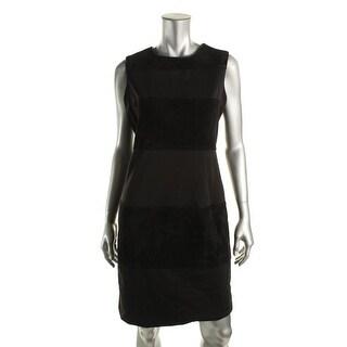 Calvin Klein Womens Ponte Faux Suede Wear to Work Dress - 12