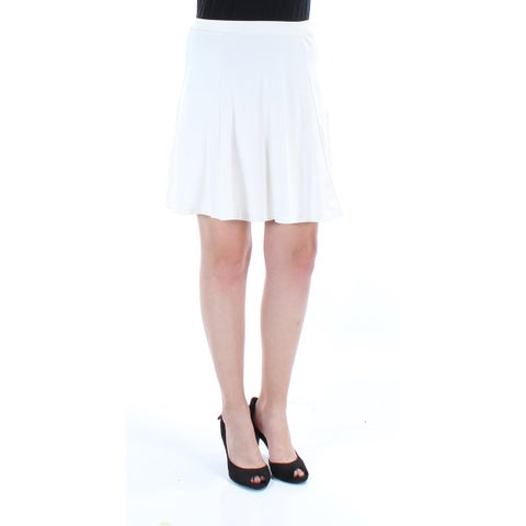 KIIND OF Womens Ivory Above The Knee Pleated Skirt Size: S