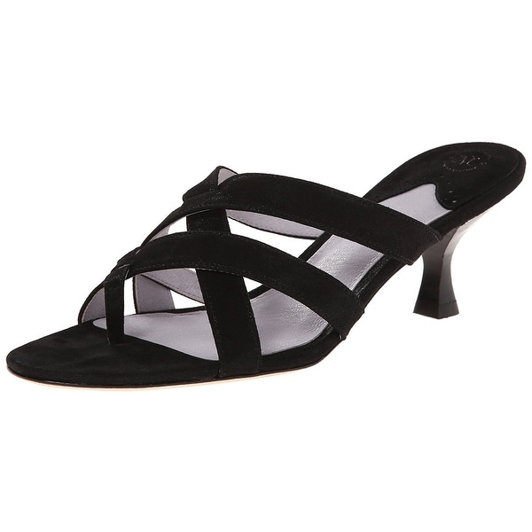 Johnston & Murphy NEW Black Women Shoe Size 6.5M Katy Thong Sandal