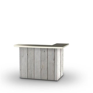 Best of Times 2000W2401 White Barn Wood Portable Bar