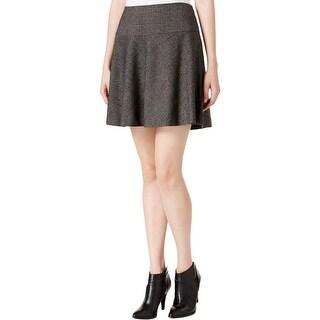 Kensie Womens A-Line Skirt Tweed Plaid