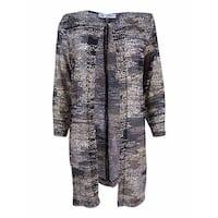 Kasper Women's Printed Flyaway Jacket - Black Multi