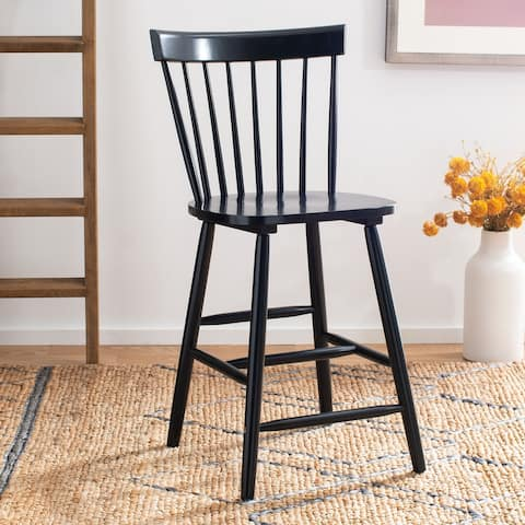 "Safavieh Providence 24-inch Spindle Farmhouse Counter Stools (Set of 2) - 19.5"" x 20.7"" x 44.1"""