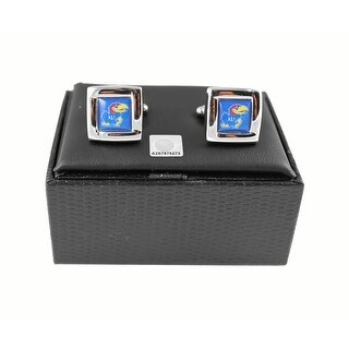 NCAA Kansas Jayhawks Square Cufflinks Gift Box Set