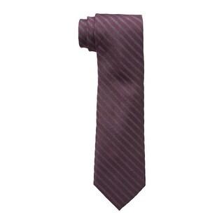 Calvin Klein NEW Gray Graphite Men's Slim Glitter Striped Neck Tie