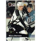 Marc Bureau Minnesota North Stars 1991 Pro Set Autographed Card  Rookie Card  This item comes with a certificate of a