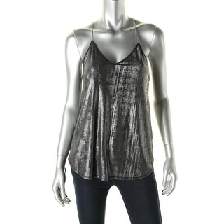 Rachel Roy Womens Drapey Chain Blouse - S