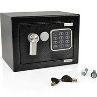 9.1 x 6.7 x 6.7 in. Compact Electronic Safe Box with Mechanical