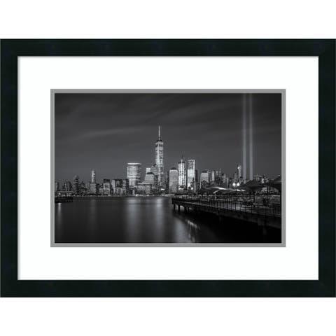 Framed Art Print WTC tribute in light by Wei (David) Dai 26x20-inch