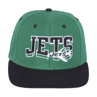 New York Jets Wave Green/Black Plastic Snapback Adjustable PlasticCap
