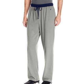 Nautica NEW Gray Mens Size Small S Colorblock Drawstring Lounge Pants