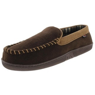 32 Degrees Heat Mens Moccasin Slippers Microfiber Plaid Lined