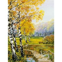 """The Birches Counted Cross Stitch Kit-10.25""""X15"""" 14 Count"""