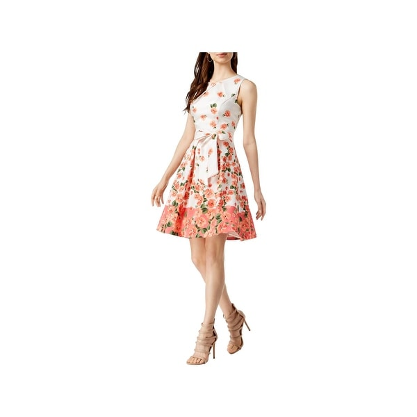 Jessica Howard Womens Party Dress Sleeveless Floral