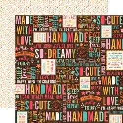 "Happy Crafter - I'd Rather Be Crafting Double-Sided Cardstock 12""X12"""
