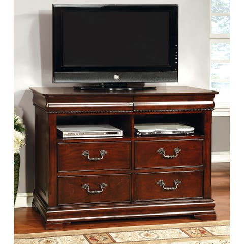 Furniture of America Diva Traditional Cherry Solid Wood Media Chest
