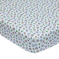 Lambs & Ivy Little Pirates Multicolor Animal 100% Cotton Baby Fitted Crib Sheet