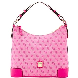 Dooney & Bourke Madison Signature Large Erica (Introduced by Dooney & Bourke at $198 in Jun 2016) - Fuchsia