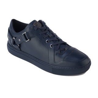 Versace Collection Men's Leather Low Top Medusa Sneaker Shoes Navy Blue
