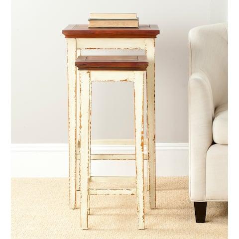 SAFAVIEH Antiqued Lynne Nesting Tables (Set of 2) - 0