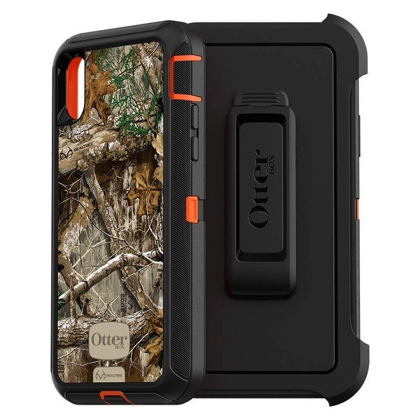 c430cdaee61 OtterBox DEFENDER SERIES Case for iPhone Xs & iPhone X - Realtree Edge  - Green
