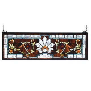 Meyda Tiffany 73063 Stained Glass Tiffany Window from the Transom Windows Collection - n/a
