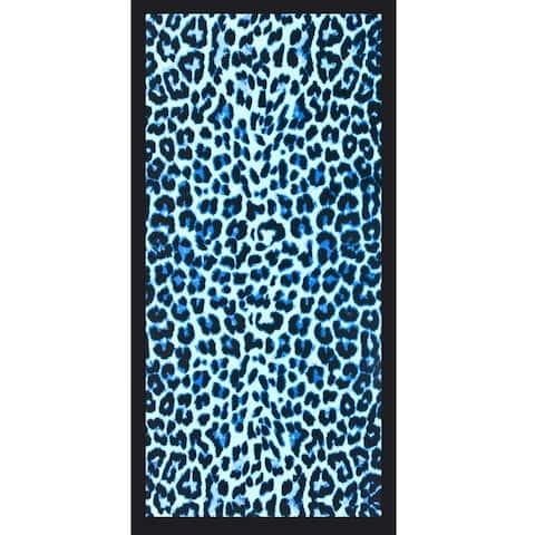 Cheetah Blue 30x60 Brazilian Velour Beach Towel