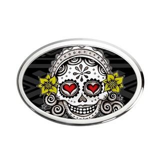 La Novia Calavera Fcg Black Gray Auto Emblem Chrome One Size
