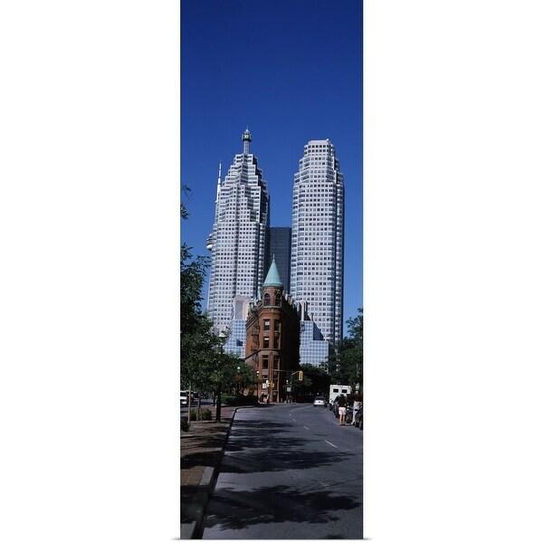 """Buildings in a city, Flatiron Building, Toronto, Ontario, Canada"" Poster Print"