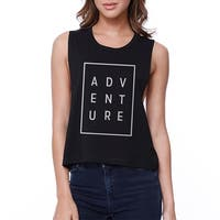 Adventure Crop Tee Trendy Sleeveless Shirt Cute Junior Tank Top