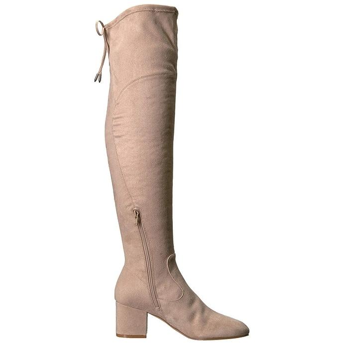 Ivanka Trump Womens pelinda Suede Almond Toe Over Knee Fashion Boots