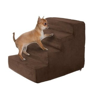 High Density Foam Pet Stairs 4 Steps with Machine Washable,