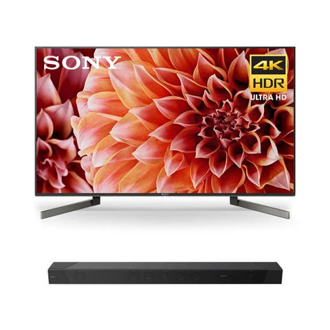 "Sony XBR-55X900F 55"" BRAVIA 4K Ultra HD HDR Smart TV with HT-ST5000 7.1.2ch 800W Dolby Atmos Sound Bar - Black"