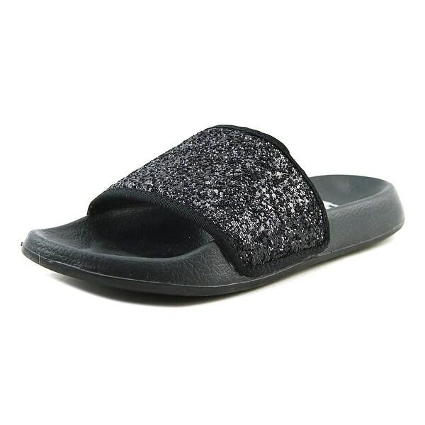LFL Julie Women Open Toe Synthetic Black Slides Sandal