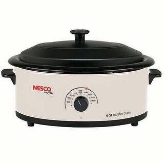 Nesco 4816-14 6 Qt Porcelain Cookwell Blk lid