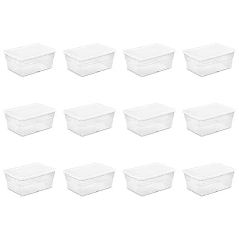 Case of 6 Sterilite 16 Quart Storage Boxes