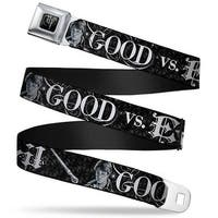 Harry Potter Logo Full Color Black White Harry Potter Good Vs. Evil Black Seatbelt Belt